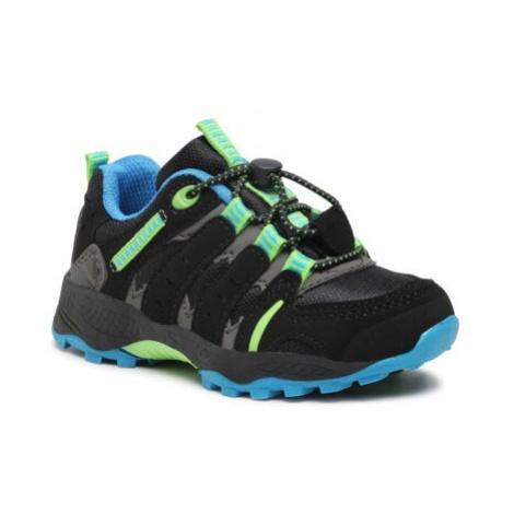 čierna chlapčenské trekové a outdoorové topánky