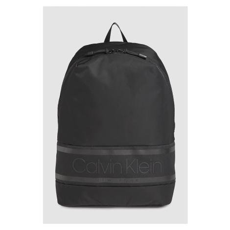 Calvin Klein čierne ruksak Striped Logo Round Backpack