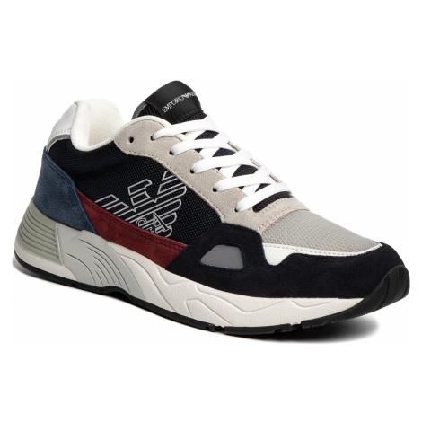 Sneakersy EMPORIO ARMANI - X4X245 XL697 C802 Navy/Off White