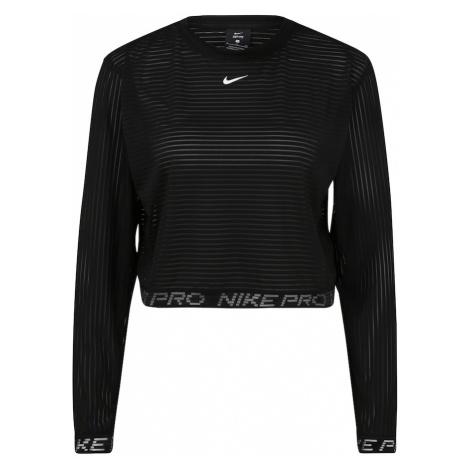 NIKE Funkčné tričko  čierna / biela