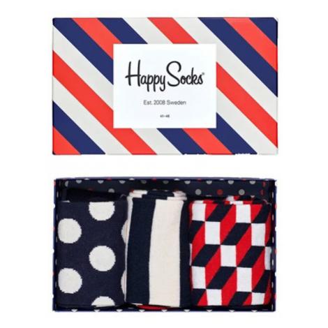 Happy Socks Stripe Gift Box-7.5-11.5 farebné XSTR08-6000-7.5-11.5