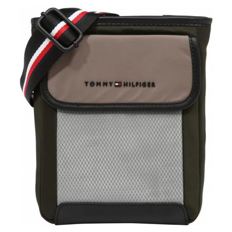 TOMMY HILFIGER Taška cez rameno  biela / oranžová / kaki / sivobéžová / sivá