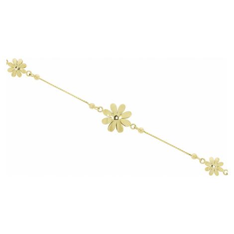 Zlatý náramok FLOWER