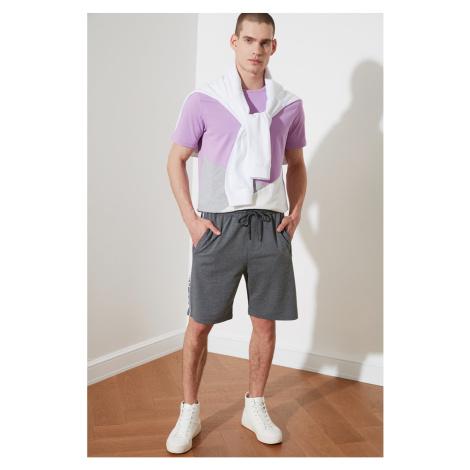 Trendyol Grey Men's Regular Fit Printed Shorts & Bermuda