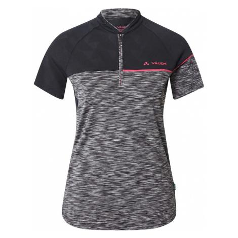 VAUDE Funkčné tričko 'Altissimo'  čierna / sivá melírovaná / biela melírovaná / svetloružová