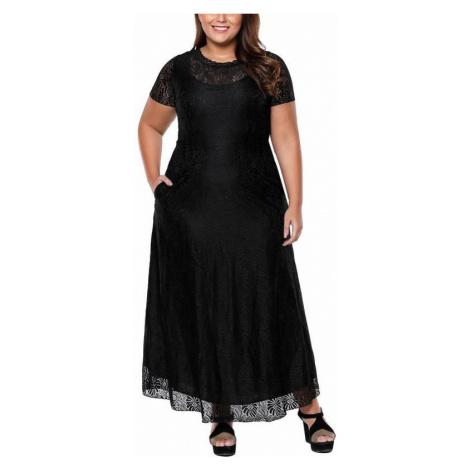 Dlhé plus size šaty Joanna - čierne