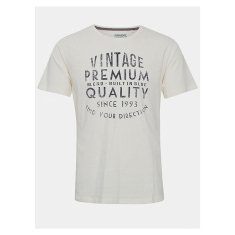 Krémové tričko s potlačou Blend