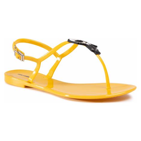 Sandále KARL LAGERFELD - KL80060 Yellow Rubber