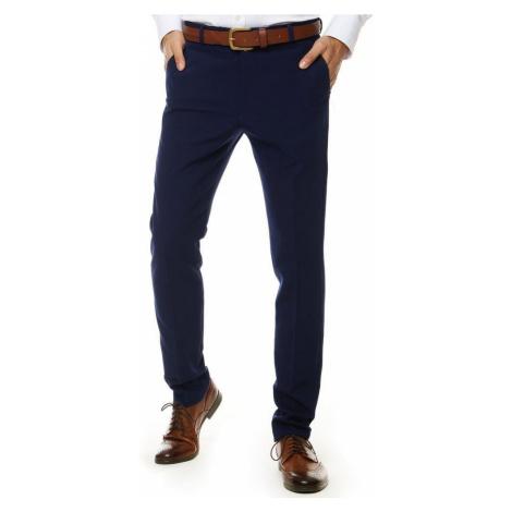 Granátové elegantné nohavice DStreet