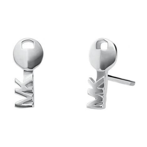 Michael Kors Strieborné náušnice kľúče MKC1038AA040