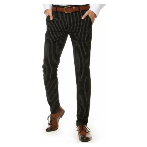 Elegantné nohavice v čiernej farbe DStreet