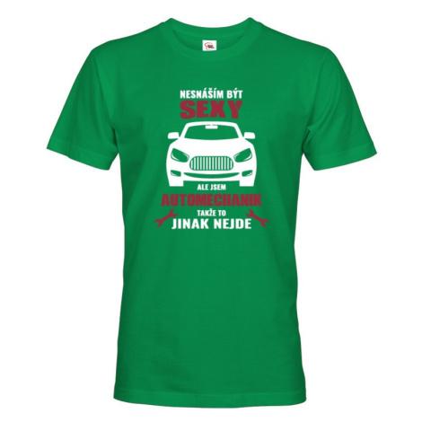 Pánské tričko pre mechanikov - sexy mechanik