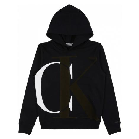 Calvin Klein Jeans Mikina 'EXPLODED'  čierna