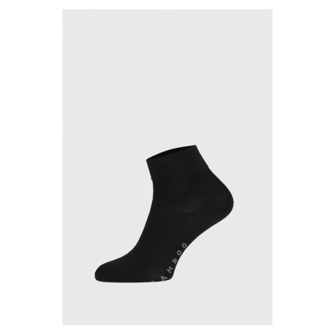 Čierne bambusové ponožky stredne vysoké