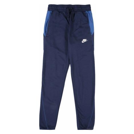Nike Sportswear Nohavice  biela / námornícka modrá / kráľovská modrá