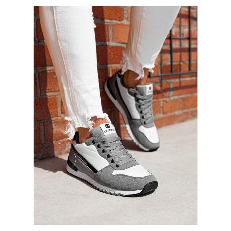 Pánske sneakers topánky T337 - šedá
