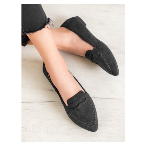 BEST SHOES SUEDE LOAFERS IN THE PIC black