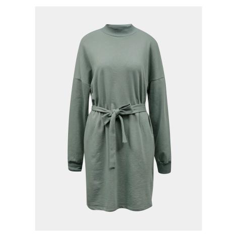 Noisy May zelené mikinové šaty Aliah