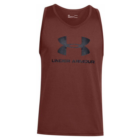 Tielko Under Armour UA SPORTSTYLE LOGO TANK-RED