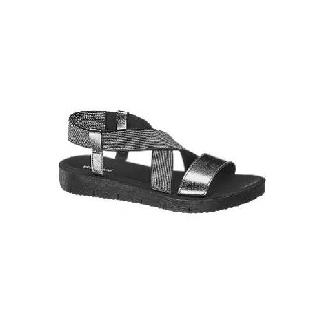 Strieborné sandále Graceland