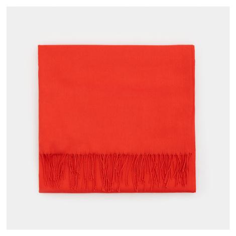Mohito - Hladký šál s prímesou viskózy - Červená