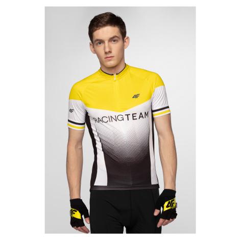 Pánske cyklistické tričko RKM154 - žltá 4F