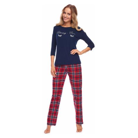 Dámske pyžamo Rossli Paula SAL-PY-1147 Darkblue LL Tmavě modrá