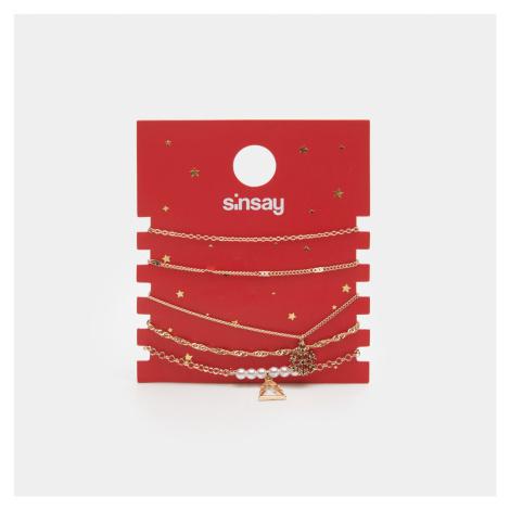 Sinsay - Súprava náramkov s vianočným motívom - Zlatá