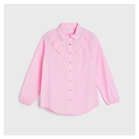 Sinsay - Košeľa s volánom - Ružová