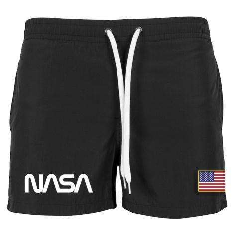 Mister Tee Plavecké šortky 'NASA'  čierna