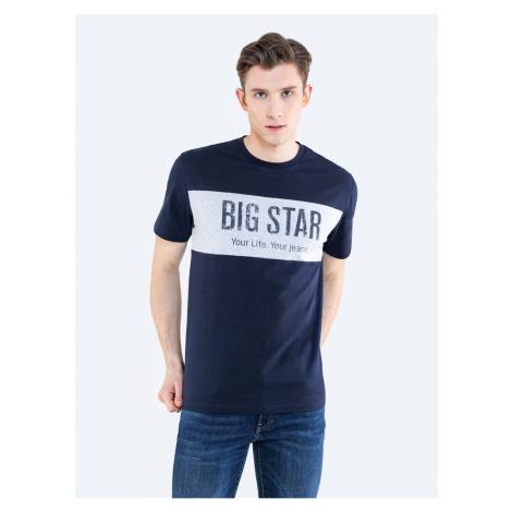 Big Star Man's T-shirt_ss T-shirt 152020 Light blue Knitted-404