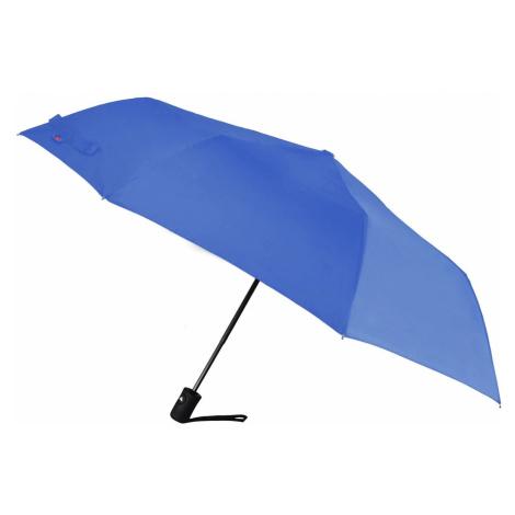Semiline Unisex's Short Auto Open Umbrella 2513Z-9 Navy Blue