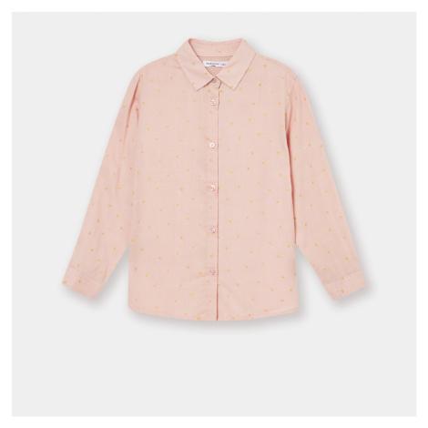 Sinsay - Dievčenská košeľa s mikropotlačou - Ružová