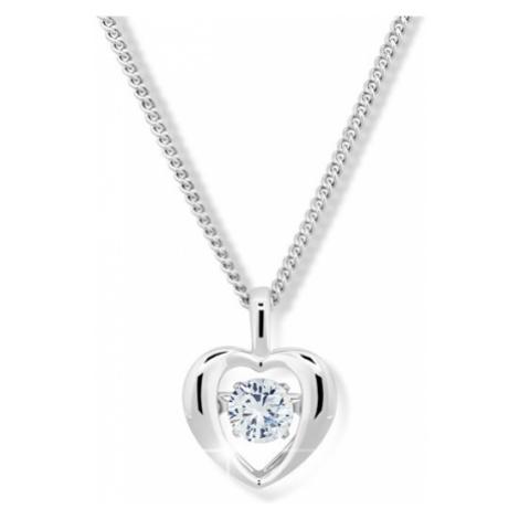 Modesi Romantický náhrdelník s kryštálom M43065 (retiazka, prívesok)