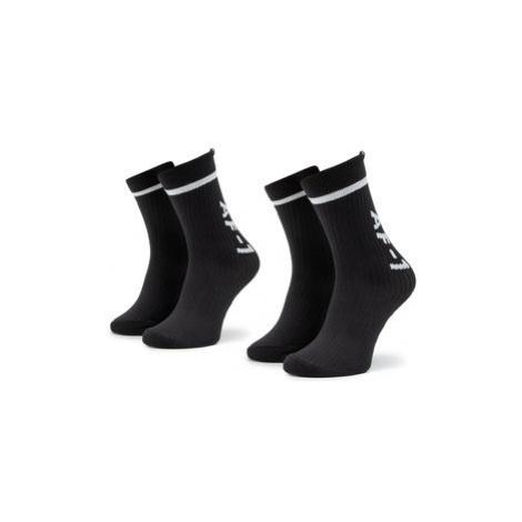 NIKE Súprava 2 párov vysokých ponožiek unisex SK0136 010 Čierna
