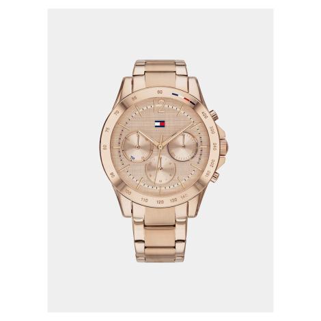 Dámske hodinky s oceľovým remienkom v ružovozlatej farbe Tommy Hilfiger