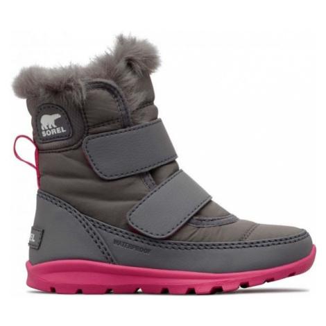 Sorel CHILDRENS WHITNEY VELCRO šedá - Dievčenská zimná obuv