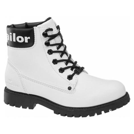 Tom Tailor - Biela šnurovacia obuv Tom Tailor