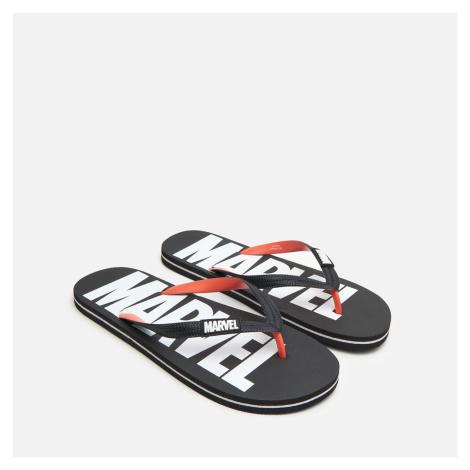 House - Plážové šľapky Marvel - Čierna