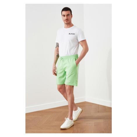 Trendyol Green Men's Regular Fit Printed Shorts & Bermuda