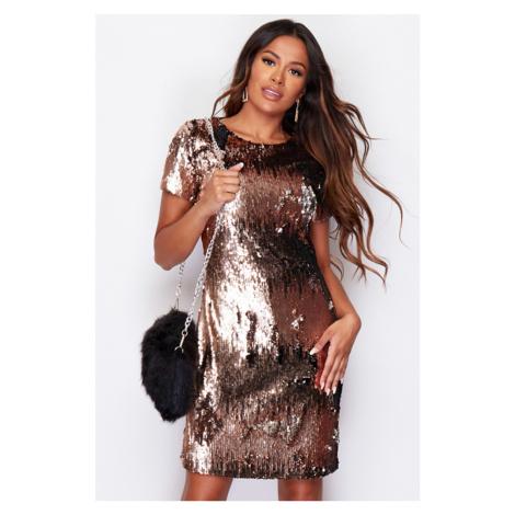 Bronzové šaty Colette