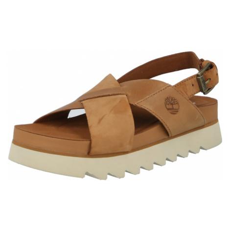 TIMBERLAND Remienkové sandále  hnedá