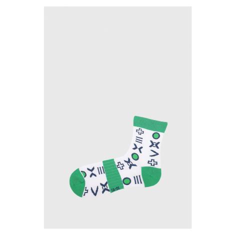 Chlapčenské ponožky Mark bielo-zelená Wola