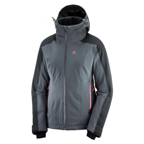 Salomon BRILLIANT JKT W šedá - Dámska lyžiarska bunda