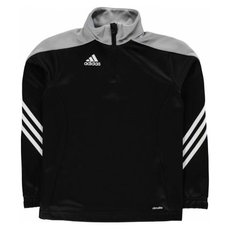 Adidas Sereno Tracksuit Top Juniors Black/Grey