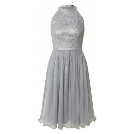 SWING Kokteilové šaty  tmavosivá / antracitová
