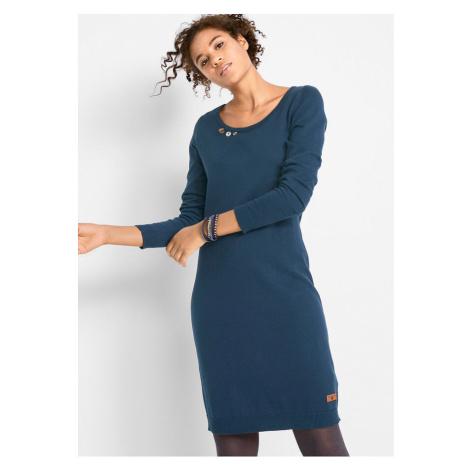Pletené šaty s ozdobnými gombičkami bonprix