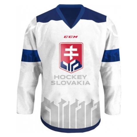 CCM JR HOKEJOVÝ DRES SLOVAKIA biela - Juniorský hokejový dres
