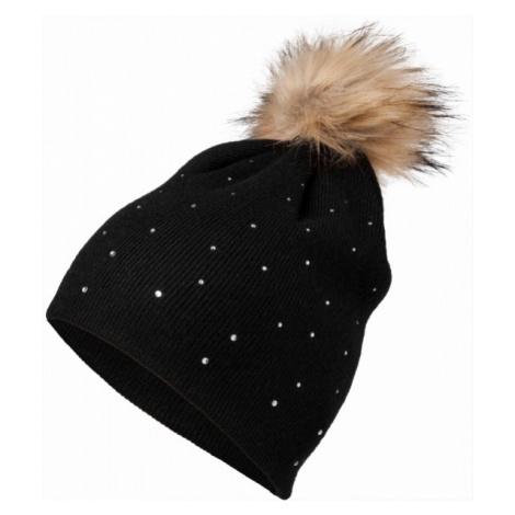 Lewro ROSA čierna - Dievčenská pletená čiapka