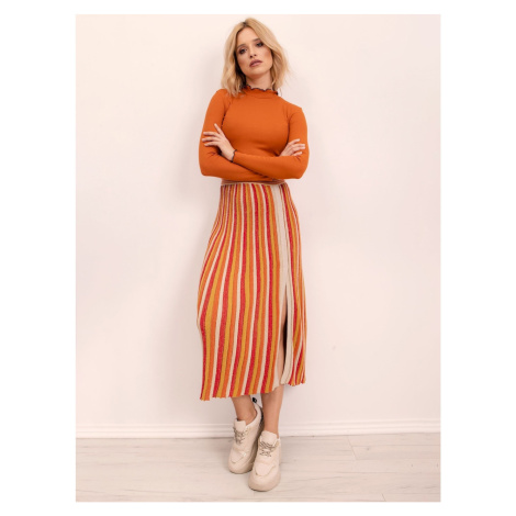 Yellow and orange striped BSL skirt
